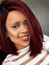 Syntetiskt hår peruker Naturligt vågigt Utan lock Naturlig peruk Mellan Svart Röd