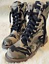 Femme Chaussures Toile de jean Automne Hiver boites de Combat Bottes Moto Bottes Cavalieres Bottes de Cowboy / Western Bottes Bottes