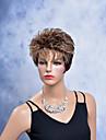 Perruque Synthetique Boucle Blond Femme Perruque Naturelle Court Cheveux Synthetiques