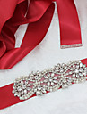 Satin/Tul Poliester/bumbac Nuntă Ocazie specială Party / Seara Cercevea With Piatră Semiprețioasă Imitație de Perle Pentru femei Panglici