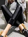 Pentru femei Căptușit cu Lână Legging - Mată Culoare solidă Talie medie