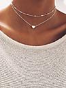 Pentru femei Coliere Choker Bijuterii Heart Shape Aliaj Design Basic Bijuterii PentruNuntă Petrecere Zi de Naștere Logodnă Zilnic Casual