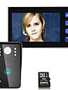 7inch hd înregistrare video ușă telefon interfon de intrare cu 8g tf card tactil buton de deblocare de la distanță noapte de vizibilitate