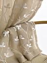 Tratamentul fereastră Simplu Model , Copaci/Frunze Sufragerie Material Sheer Perdele Shades Pagina de decorare For Fereastră