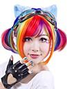 Syntetiskt hår peruker Rak Bob-frisyr Utan lock Halloween Paryk Partyperuk Cosplay Peruk Korta Lila Röd
