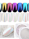 1pc Pudder / Glitter Powder Elegant & Luksuriøs / Mirror Effect / Glitrende Nail Art Design