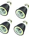4pcs 7W 550lm LED-spotlights MR16 1 LED-pärlor COB Dekorativ Varmvit Kallvit 220V