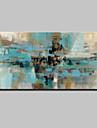HANDMÅLAD Abstrakt Horisontell, Abstrakt Moderna Duk Hang målad oljemålning Hem-dekoration En panel