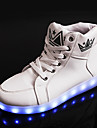 Bărbați Adidași Confortabili Noutăți Pantofi Usori Toamnă Iarnă PU Casual Dantelă Toc Plat Alb Negru Plat