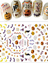 1 Autocollant d\'art de clou Halloween Nouvel an Produits DIY Autocollant 3D Maquillage cosmetique Nail Art Design