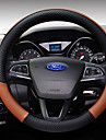 Steering Wheel Covers Leather 38cm Coffee / Black / Purple / Black / White For Ford Focus / Escort / Fiesta All years