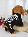 Câine Costume Îmbrăcăminte Câini Halloween Cranii Negru