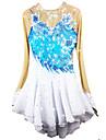Robe de Patinage Artistique Femme / Fille Patinage Robes Bleu Pale Spandex Strass / Appliques Haute elasticite Utilisation Tenue de