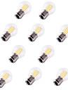 10pcs 4W 360lm E26 / E27 Bec Filet LED G45 4 LED-uri de margele COB Decorativ Alb Cald Alb Rece 220-240V
