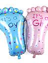 2pcs / set 79 * 46cm picioare mari copilul ziua de nastere decor de fundal aspect picior baloane balon