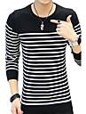 Bărbați Plus Size Casul/Zilnic Regular Plover-Bloc Culoare Manșon Lung Rotund Bumbac Toamnă Iarnă Mediu Micro-elastic