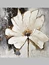 Pictat manual Floral/Botanic Artistic Exterior Un Panou Canava Hang-pictate pictură în ulei For Pagina de decorare