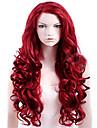 Perruque Synthetique Ondulation naturelle Cheveux Synthetiques Rouge Perruque Femme Long Perruque Naturelle / Perruque Halloween Sans