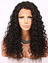Äkta hår Spetsfront Peruk Brasilianskt hår Lockigt 150% Densitet Till färgade kvinnor Naturlig hårlinje Lång Dam Äkta peruker med hätta