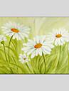 Pictat manual Floral/Botanic Altele Un Panou Canava Hang-pictate pictură în ulei For Pagina de decorare