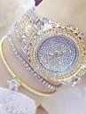 Γυναικεία κυρίες Πολυτελή Ρολόγια Μοδάτο Ρολόι Μοναδικό Creative ρολόι Ιαπωνικά Χαλαζίας Ανοξείδωτο Ατσάλι Ασημί / Χρυσό 30 m Καθημερινό Ρολόι Αναλογικό Φυλαχτό - Χρυσό Ασημί Χρυσό / Ασημί