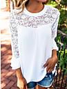 Pentru femei Stil Nautic Bluză Mată Poliester