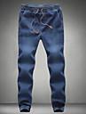 Bărbați Bumbac Skinny Zvelt Blugi Pantaloni Mată