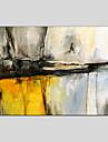 Peint a la main Abstrait Panoramique horizontal, Abstrait Toile Peinture a l\'huile Hang-peint Decoration d\'interieur Un Panneau