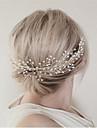 Imitație de Perle Aliaj Îmbrăcăminte de păr Veșminte de cap with Floral 1 buc Nuntă Ocazie specială Party / Seara Diadema