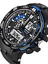 Ανδρικά Γυναικεία Αθλητικό Ρολόι Στρατιωτικό Ρολόι Έξυπνο ρολόι Ψηφιακή σιλικόνη Μαύρο 30 m Ανθεκτικό στο Νερό Συναγερμός Ημερολόγιο Αναλογικό-Ψηφιακό Φυλαχτό Πολυτέλεια Καθημερινό Βραχιόλι Μοντέρνα