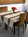 Crăciun floare de masă poliester acoperă Crăciun masă de pânză 150 * 180cm