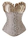 Korsett Klassisk/Traditionell Lolita Cosplay Lolita-klänning Svart Grå Guldig Korsett Stringtrosor För