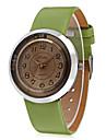 JUBAOLI Dam Armbandsur Modeklocka Kinesiska Quartz Vardaglig klocka Läder Band Berlock Ledigt Häftig Svart Vit Brun Grön