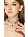 Pentru femei Cristal Coliere Choker Argintiu Coliere Bijuterii Pentru Nuntă Petrecere