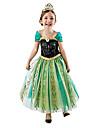 Prinsessa Sagolikt Cosplay Kostymer/Dräkter Film-cosplay Grön Klänning Halloween Nyår Chiffong Cotton
