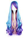 Γυναικεία 32 inch Ίνα Ανθεκτική στη Ζέστη Μπλε Anime Περούκες για Στολές Ηρώων / Λολίτα Πανκ