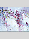 HANDMÅLAD Blommig/Botanisk Horisontell Panoramautsikt Duk Hang målad oljemålning Hem-dekoration En panel