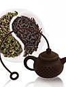 silicon ceai pungă ceai oală forma filtru infuzer accesorii filtru de cafea de culoare aleatoare