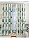 Tringle oeillets Onglet superieur Plis double Plis crayon Le traitement de fenetre Moderne Decontracte Rustique , Imprime Fleur Imprimes