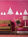 Botanic Perete Postituri Pomi de Crăciun Autocolante de Perete Decorative, Legat Pagina de decorare de perete Decal Perete