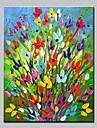 Pictat manual Floral/Botanic Vertical,Simplu Modern Un Panou Canava Hang-pictate pictură în ulei For Pagina de decorare