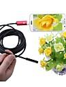 2 i 1 usb endoskop kamera röd 7mm lins 5m längd ip67 vattentät inspektion borescope orm kamera för windows android