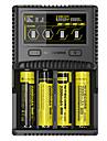 Nitecore SC4 Akkumulátor töltő mert Li-on Lítium akkumulátor Nikkel-fémhidrid Gyorstöltés USB-kimenet LCD-kijelző Áramkör-érzékelés Védett áramkör AEÁ EU Dugasz opciók