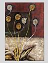 Hang målad oljemålning HANDMÅLAD - Blommig / Botanisk Moderna Duk