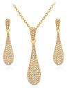 Pentru femei Zirconiu Cubic Set bijuterii - Placat Auriu Picătură Vintage, Elegant Include Cercei Picătură / Coliere cu Pandativ Auriu Pentru Nuntă / Petrecere