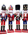 4st juldekorationer trä hantverk dekorativa smycken gåvor nötknäppare ny stil