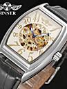 WINNER Bărbați Ceas Elegant  Ceas de Mână ceas mecanic Mecanism automat Gravură scobită Piele Bandă Vintage Casual Negru