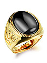 Bărbați Resin Geometric Inel de declarație / manşetă Ring - Modă, Declarație Ajustabil Negru / Rosu / Verde Pentru Zilnic