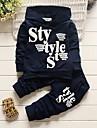 Băieți Set Îmbrăcăminte Scrisă Bumbac Acrilic Toate Sezoanele Mânecă Lungă Simplu Draguț Activ Bleumarin Gri