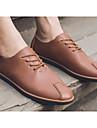 Bărbați Pantofi PU Primăvară Toamnă Confortabili Oxfords pentru Casual Alb Negru Galben Rosu